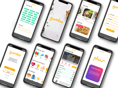 Gumbo App app design branding website web app ui design recipe