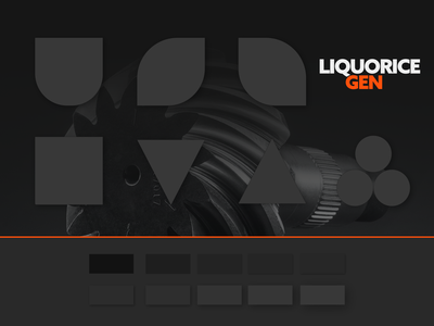 Liquorice Base Brand and Aesthetics dark theme dark ui logo colour palette blockchain marketing collateral branding design