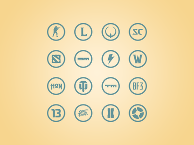 Simple Game Icons icon icons game games esports download vector simple