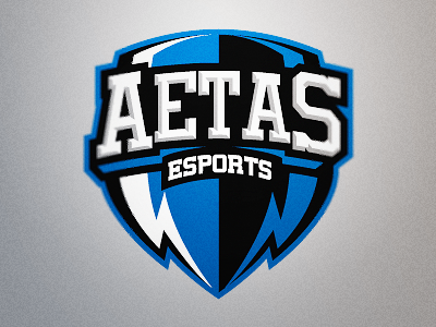 Aetas eSports Logo 2 aetas esports gaming team shield crest logo