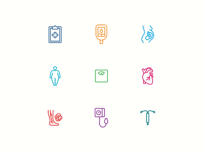 Health in Pregnancy Icons pregnancy women medical icons icon