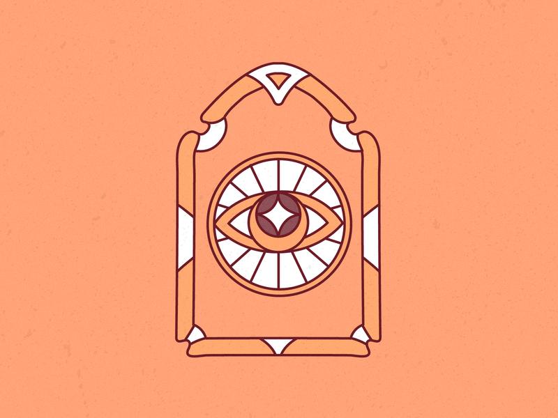 OBLIIK logo logo vector eye logo thirdeye illustrator vintage retro stroke modern line artnouveau