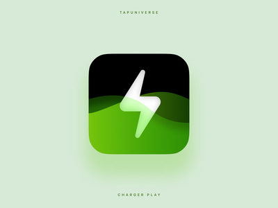 Charger Play App Icon illustration interactive charger animation app store appicon icon ui