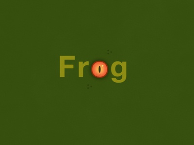 Frog | Typographical Poster
