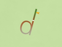 D for Duck   Typographical Poster