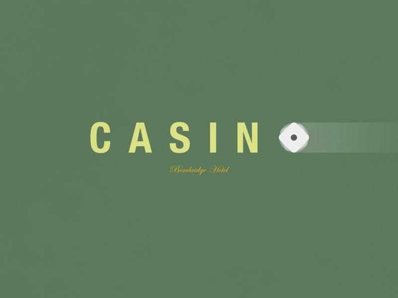 Casino   Typographical Poster font sans logotype gamble casino illustration minimal graphics simple typography