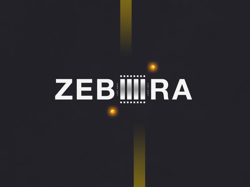 Zebra Crossing   Typographical Poster helvetica narrative literal crossing zebra illustration minimal graphics simple typography