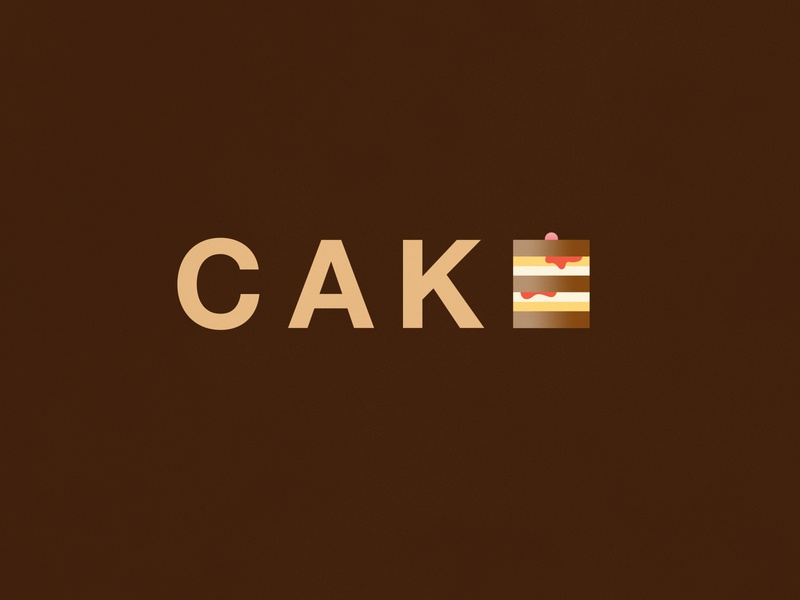 Cake   Typographical Project narrative sans helvetica food cake humour minimal graphics simple typography