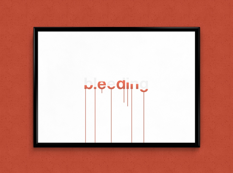 Bleeding   Typographical Project helvetica blood poster humour font illustration minimal graphics simple typography