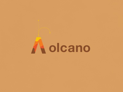Volcano | Typographical Project sans helvetica poster narrative volcano illustration minimal graphics simple typography