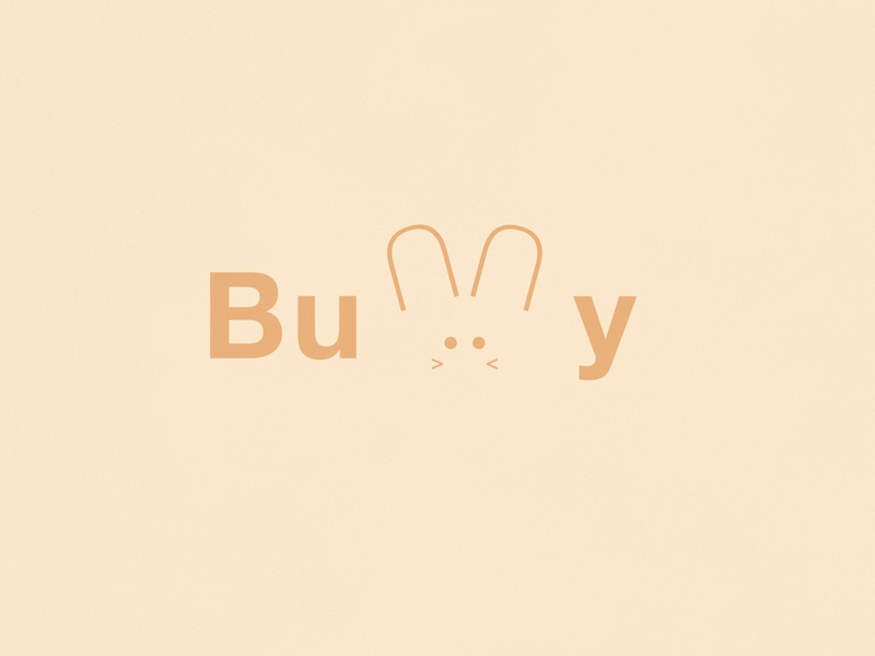 Bunny   Typographical Project poster shapes cute bunny rabbit illustration minimal graphics simple typography