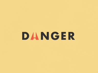 Danger | Typographical Poster asterisk sans bold warning danger poster minimal graphics simple typography