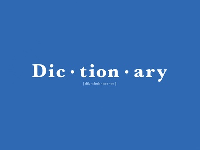 Dictionary | Typographical Poster parody meaning poster word dictionary serif minimal graphics simple typography