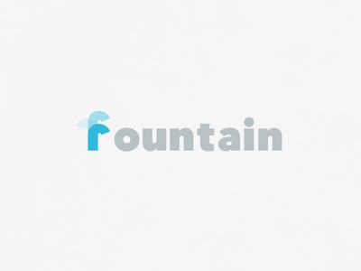 Fountain | Typographical Poster narrative bold sans water poster illustration minimal graphics simple typography