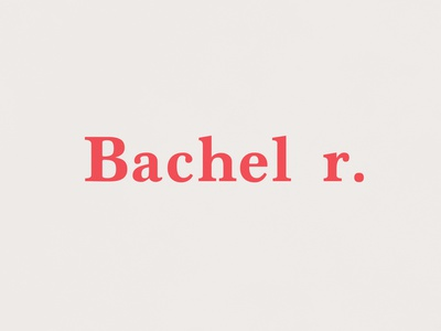 Bachelor | Typographical Project minimal red relationship single letter serif word graphics simple typography