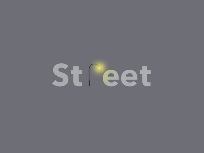Street | Typographical Project type poster word light street illustration minimal graphics simple typography