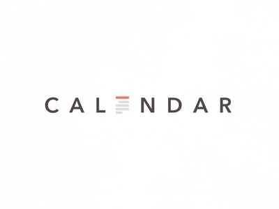 Calendar | Typographical Project poster type sans word calendar illustration minimal graphics simple typography