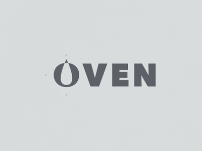 Oven | Typographical Project type word oven text poster illustration minimal graphics simple typography