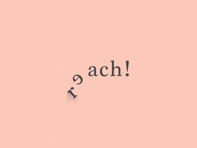 Reach| TypographicalProject black pink narrative serif poster text minimal graphics simple typography