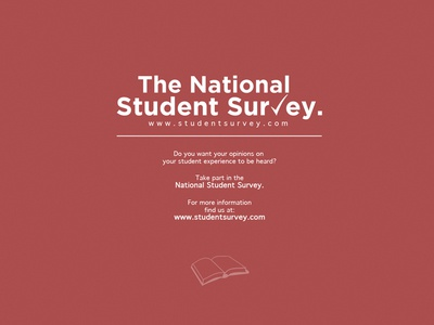 The National Student Survey | Poster Competition 2013