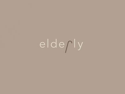 Elderly| TypographicalProject illustration cane sansserif elderly poster text minimal graphics simple typography