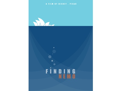 Finding nemo minimalistic poster by karl bembridge dribbble finding nemo minimalistic poster thecheapjerseys Gallery