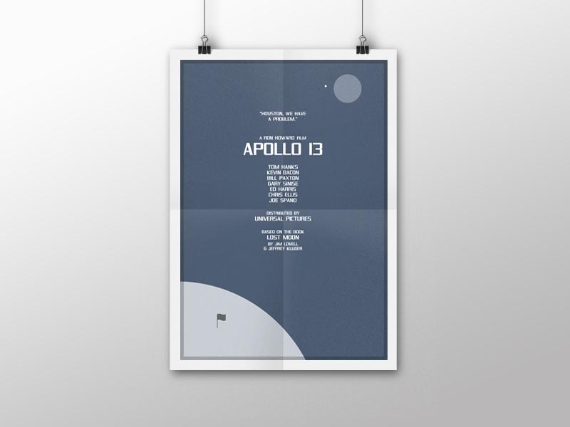 Minimalistic Movie & T V Posters   Apollo 13 by Karl Bembridge on