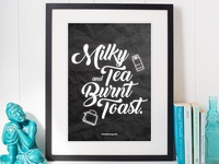 The Little Things in Life   Typographical Posters