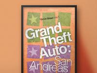 Grand Theft Auto   Minimalistic Typography Posters