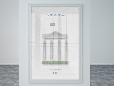 The White House | Minimalistic Illustration Poster
