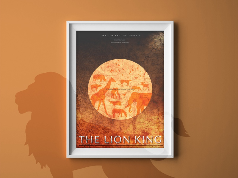 The Lion King | Minimalistic Illustration Poster