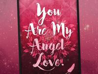 Samantha James 'Angel Love' | Typographical Poster