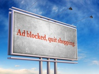Ad Blocker | Typographical Billboard Parody