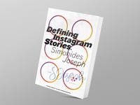 Defining Instagram Stories   Book Cover Design