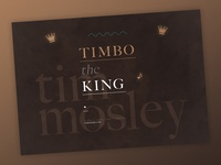 Timbo the King | Typographical Poster