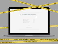 Caution - Secret Programmes | Typography Poster