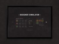 Designer Simulator (Inventory Menu)   Typography Poster