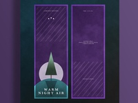 Warm Night Air Perfume | Typographical Poster