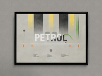 Petrol (Filling the Word) | Typographical Poster