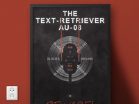 Text-Retriever AU-08 Helicopter | Typographical Poster