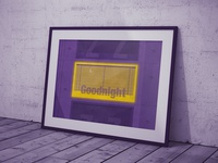 Goodnight   Typographical Poster