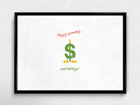 Happy Spending... and Holidays! | Typographical Poster