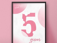 XL 5 Gum | Typographical Poster