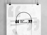 Only the Music Speaks to Me | Typographical Poster