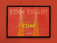 EDM Trap! (feat. Deadmau5) | Typographical Poster