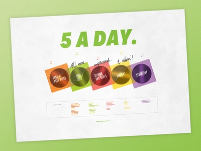 5 A Day | Typographical Poster