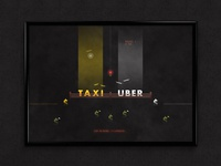 Taxi vs. Uber | Typographical Poster