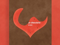 Sweet Like Chocolate XXX | Typographical Poster
