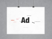 Love Triangles, Never a Good Thing | Typography Poster
