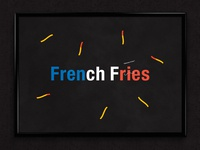 French Fries | Typographical Poster